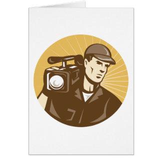 Cameraman Greeting Cards