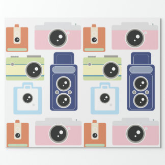 cameras wrapping paper