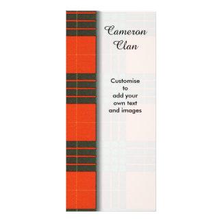 Cameron clan Plaid Scottish tartan Rack Card