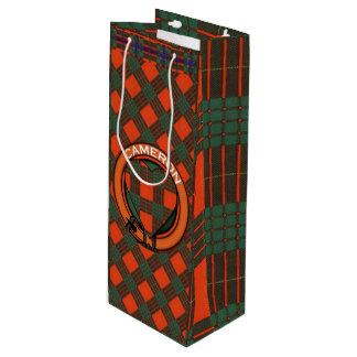 Cameron clan Plaid Scottish tartan Wine Gift Bag