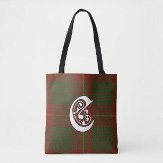 Cameron Clan Tartan Monogram Tote Bag