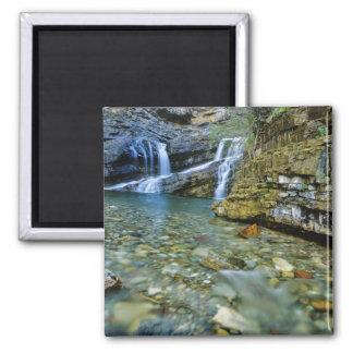 Cameron Falls in Waterton Lakes National Park in Magnet