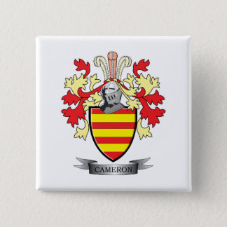 Cameron Family Crest Coat of Arms 15 Cm Square Badge
