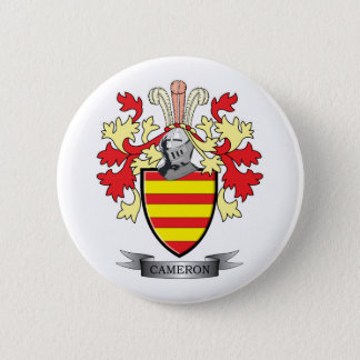 Cameron Family Crest Coat of Arms 6 Cm Round Badge