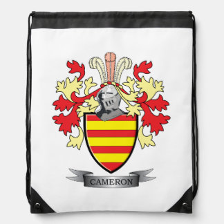 Cameron Family Crest Coat of Arms Drawstring Bag