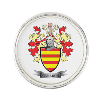 Cameron Family Crest Coat of Arms Lapel Pin