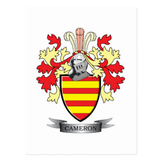 Cameron Family Crest Coat of Arms Postcard