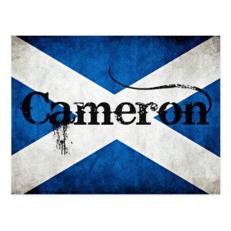 cameron grunge flag postcard