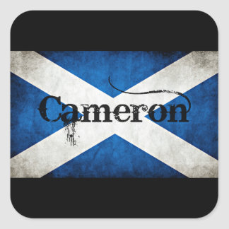 cameron grunge flag square sticker