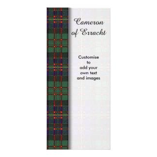Cameron of Erracht clan Plaid Scottish tartan Rack Card Design