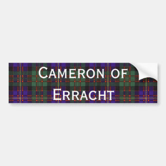Cameron of Erracht Scottish tartan Bumper Sticker