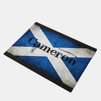Cameron Scotland Flag Doormat