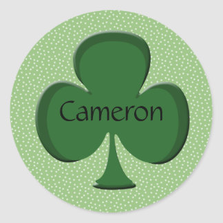 Cameron Shamrock Name Stickers