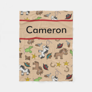 Cameron's Personalized Cowboy Blanket