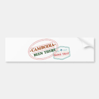 Cameroon Been There Done That Bumper Sticker