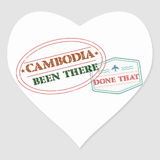 Cameroon Been There Done That Heart Sticker