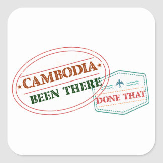 Cameroon Been There Done That Square Sticker