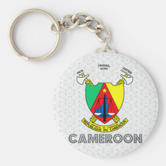 Cameroon Coat of Arms Key Ring