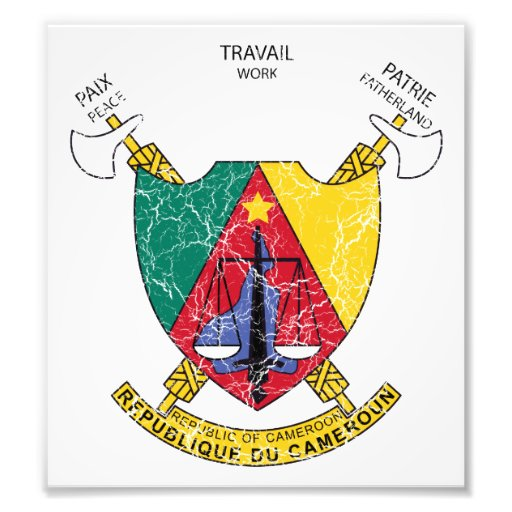 Cameroon Coat Of Arms Art Photo