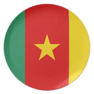 cameroon country flag plate