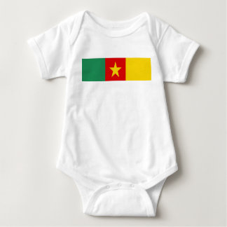 Cameroon country flag symbol long baby bodysuit