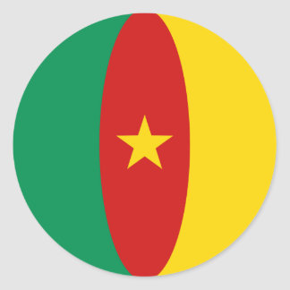 Cameroon Fisheye Flag Sticker