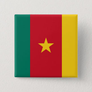 Cameroon Flag 15 Cm Square Badge