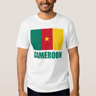 Cameroon Flag Green Text T Shirt