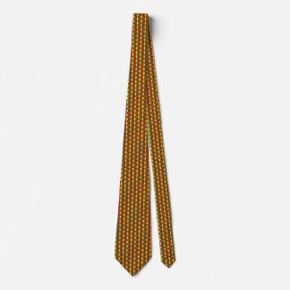 Cameroon Flag Honeycomb Tie