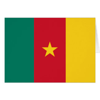 Cameroon Flag Note Card
