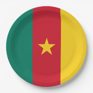 Cameroon Flag Paper Plate