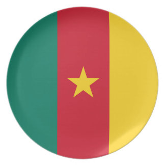 Cameroon Flag Plate