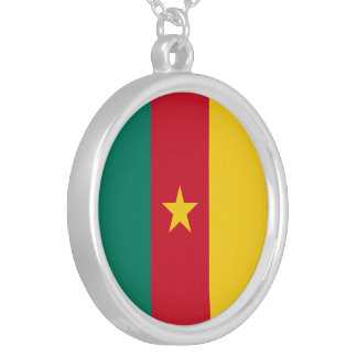 Cameroon Flag Silver Plated Necklace