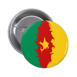 Cameroon Gnarly Flag Pinback Buttons