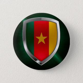 Cameroon Mettalic Emblem 6 Cm Round Badge