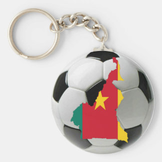 Cameroon national team basic round button key ring