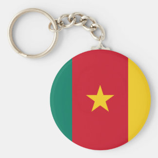 Cameroon National World Flag Key Ring