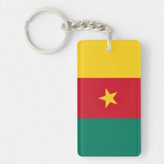 Cameroon National World Flag Key Ring