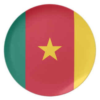 Cameroon National World Flag Plate