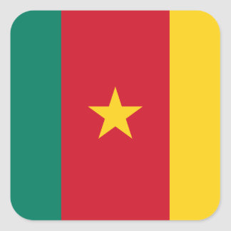Cameroon National World Flag Square Sticker