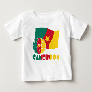 Cameroon Soccer Ball and Flag Baby T-Shirt