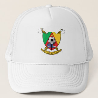 Cameroon soccer ball emblem coat of arms trucker hat