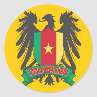 Cameroon Winged Classic Round Sticker