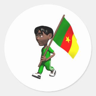 Cameroonian Boy Classic Round Sticker