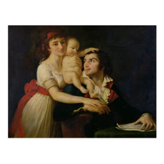 Camille Desmoulins  his wife Lucile  and their Postcard