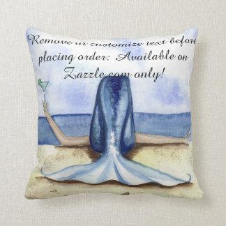 Camille Grimshaw Beach Margarita Mermaid Pillow