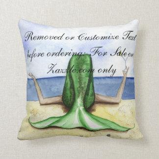 Camille Grimshaw Beach Pina Colada Mermaid Pillow