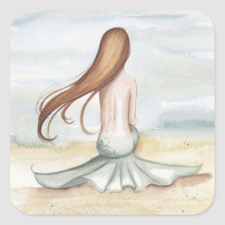 Camille Grimshaw Mermaid Watching Tide Sticker