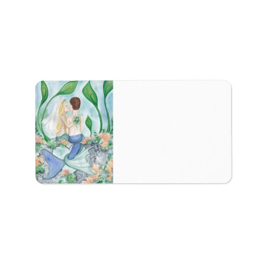 Camille Grimshaw Mermaid Wedding Address Labels