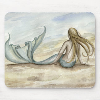 Camille Grimshaw Seaside Mermaid Mousepad